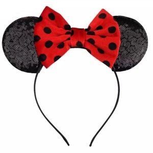 ❤️🖤 Polka Dot MINNIE MOUSE EARS! $35 @ Disneyland